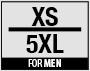 Size XS-5XL