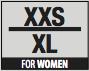 Size  W XXS-XL